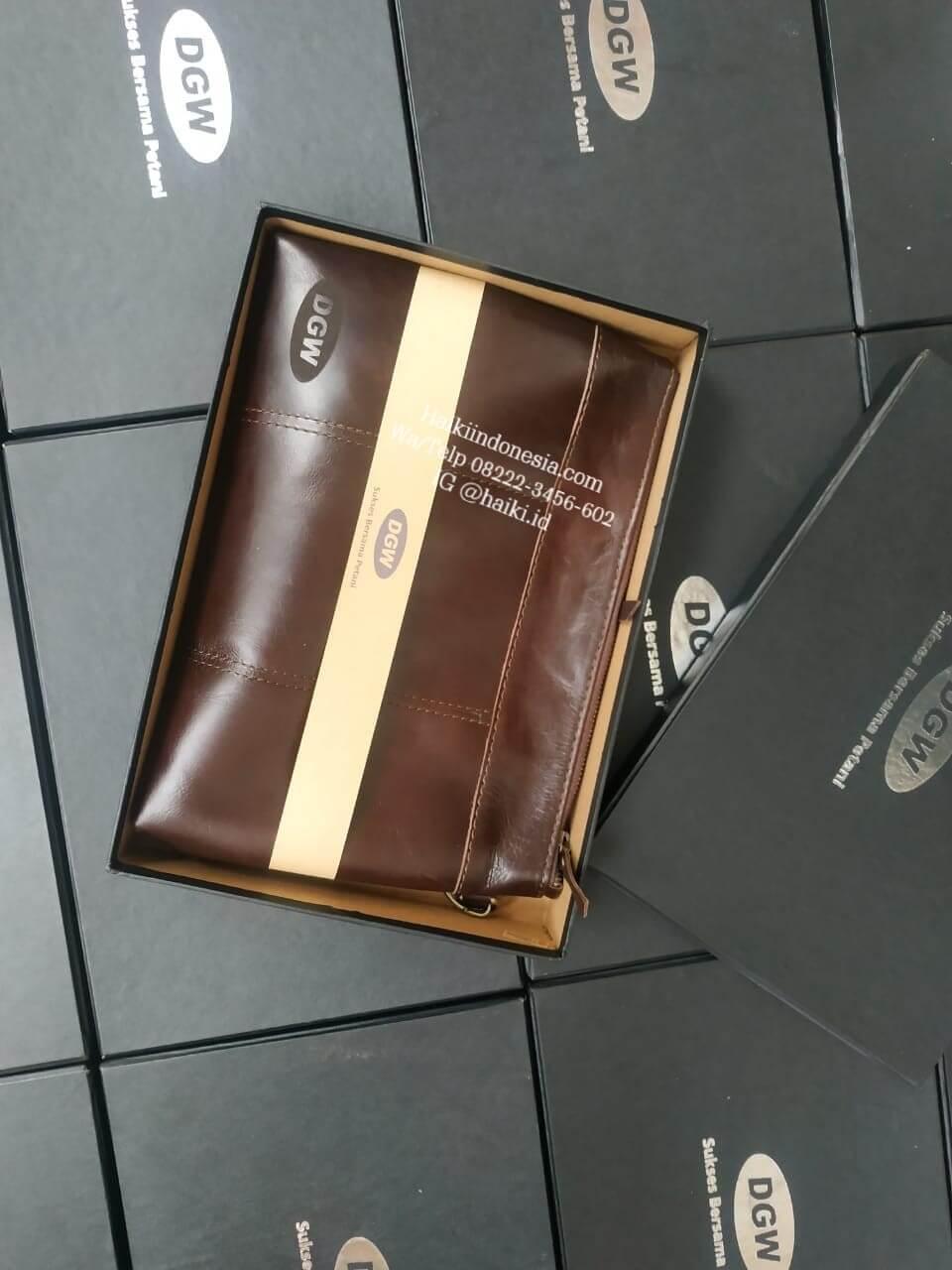 tas pouch kulit asli custom