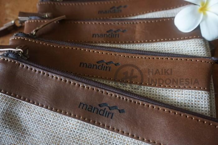 clutch kulit bank Mandiri