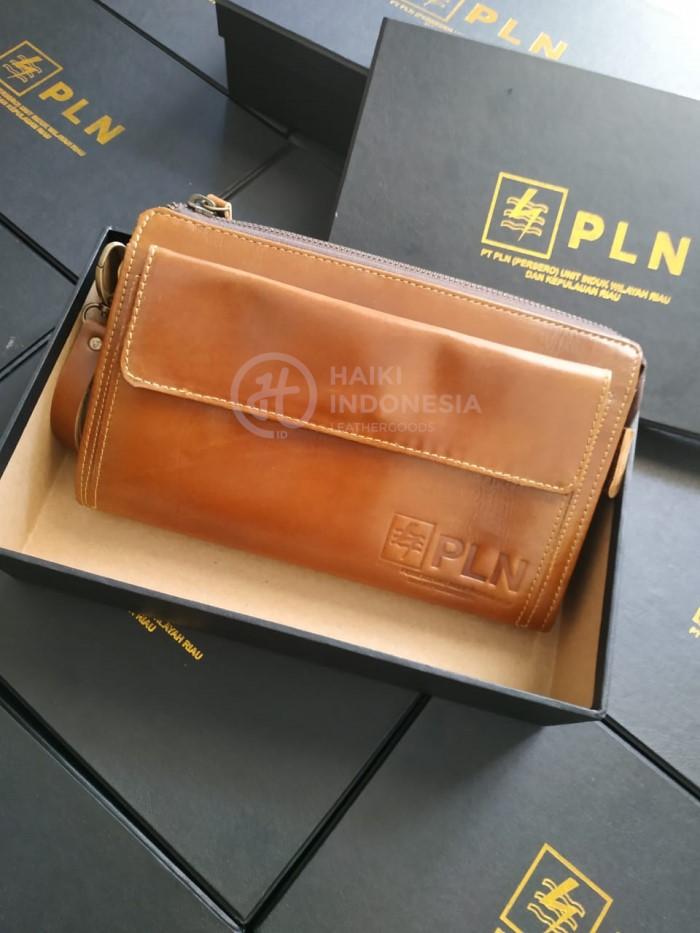 Souvenir Promosi Akhir Tahun pouch bag kulit asli