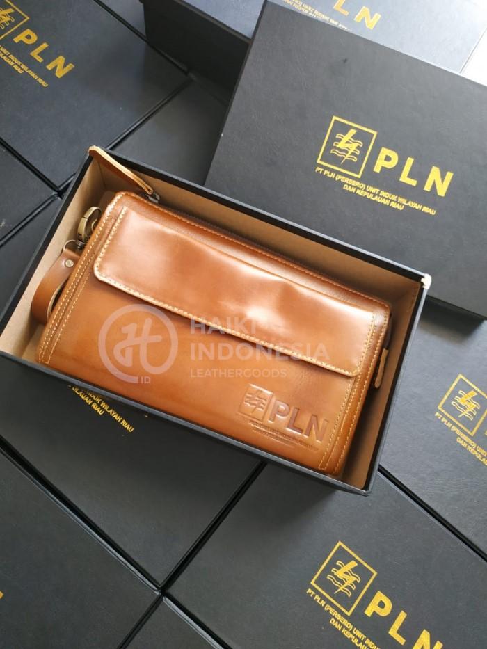 dompet pouch bag kulit Kantor PLN unisex