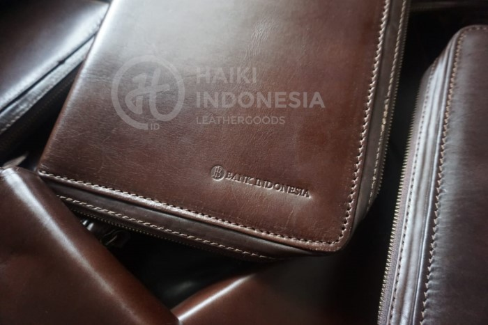 binder kulit asli bank indonesia
