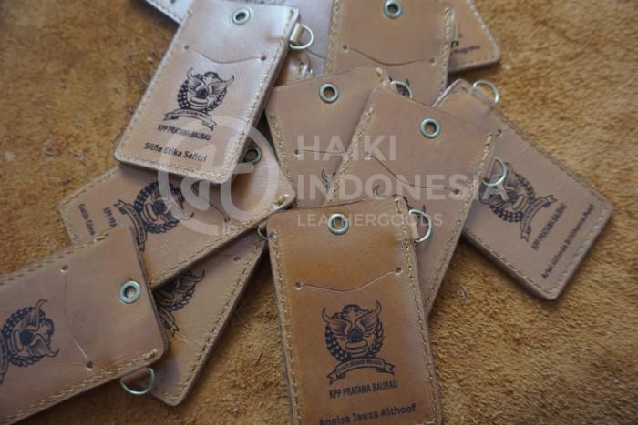 souvenir bank id card kulit