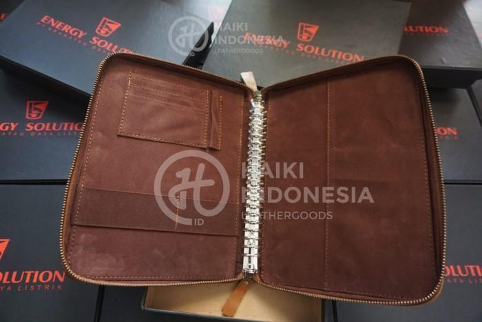 binder kulit souvenir bank