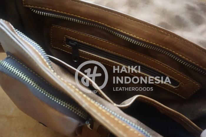 tas ransel kulit asli untuk merchandise