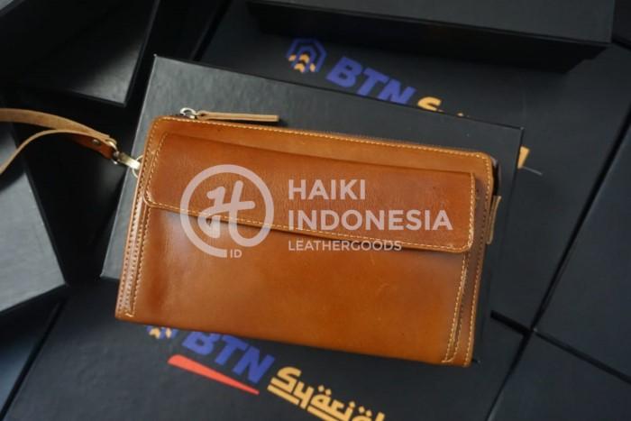 souvenir event HUT BRI pouch kulit