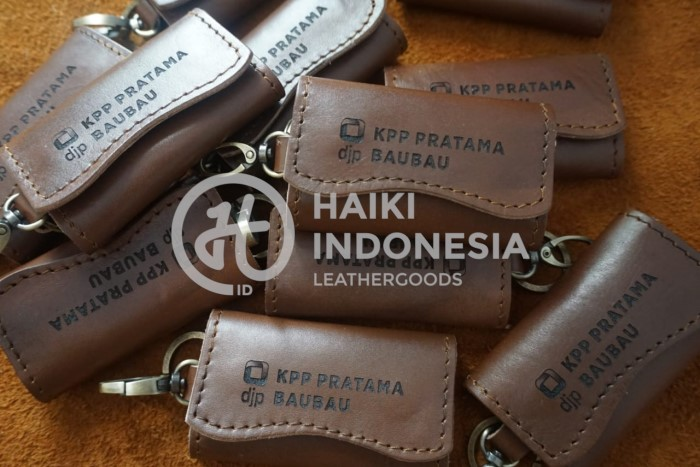 souvenir gantungan kunci kulit untuk perusahaan kpk