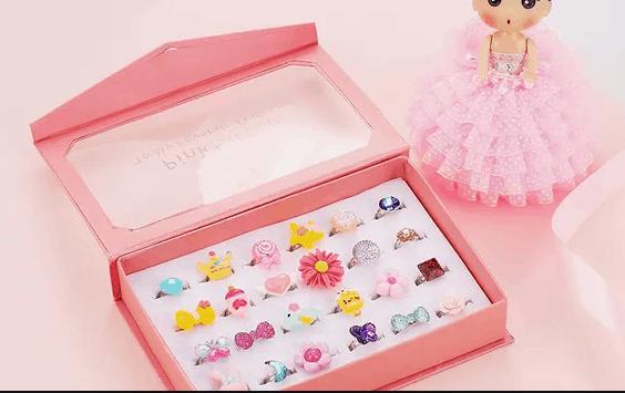 cincin warna warni mainan anak perempuan